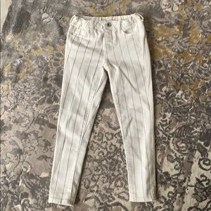 Zara girls pinstripe denim collection pant